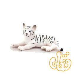 توله ببر سفید نشسته White Tiger Cub Lying Down 387015