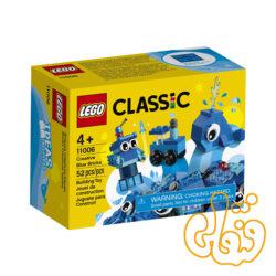 ساختنی لگو کلاسیک بلوکهای آبی خلاق Lego Creative Blue Bricks 11006