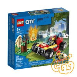 ساختنی لگو سیتی آتش سوزی جنگل Lego City Forest Fire 60247
