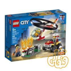 ساختنی لگو سیتی هلی کوپتر آتش نشانی Lego City Fire Helicopter Response 60248