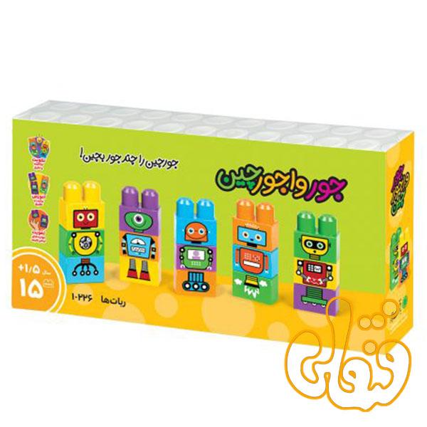 ساختنی بلوک آجره جورواجورچین طرح ربات ها 10226
