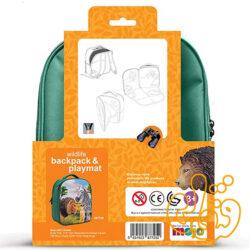کیف کوله پشتی سه بعدی حیات وحش با سه عدد فیگور موجو فان 3D Wildlife Junior Backpack with 3 Figures 387725