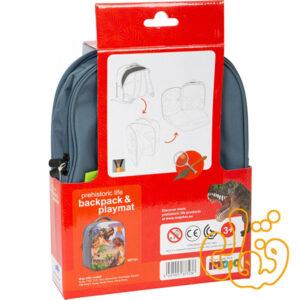 کیف کوله پشتی سه بعدی دایناسور با دو عدد فیگور موجو فان 3D Dinosaur Junior Backpack with 2 Figures 387723