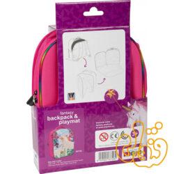 کیف کوله پشتی سه بعدی یونیکورن با دو عدد فیگور موجو فان 3D Fantasy Junior Backpack with 2 Figures 387726