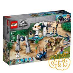 ساختنی لگو ژوراسیک خشم دایناسور Jurassic World Triceratops Rampage 75937