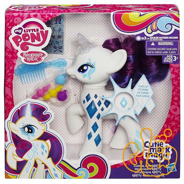 عروسک پونی ریریتی درخشنده Glamor Glow Rarity Pony B0367